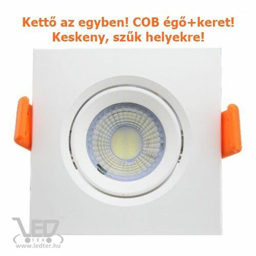 COB LED spot lámpatest szögletes középfehér 5W 500 lumen