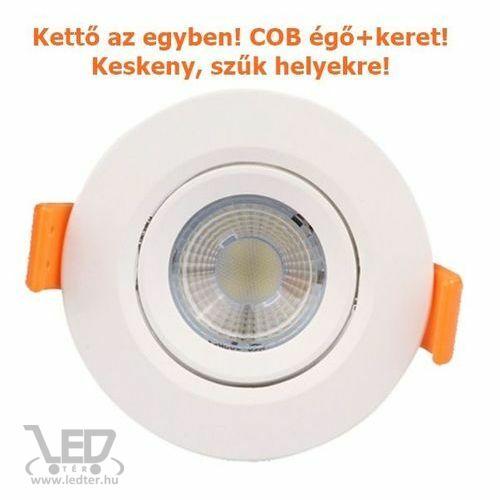COB LED spot lámpatest kör alakú középfehér 5W 500 lumen