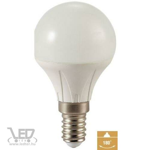 Kisgömb E14 LED izzó középfehér 5W 535 lumen