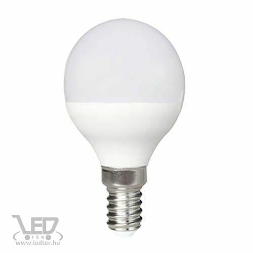 Középfehér-4000 8W=60W 800 lumen Kisgömb E14 LED izzó