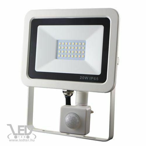 Mozgásérzékelős LED reflektor középfehér 20W 2000 lumen