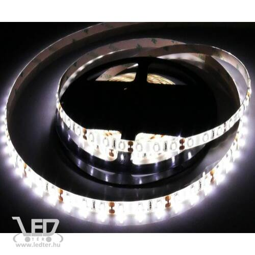Középfehér 120 LED/m 2835 chip 9,3W 880 lumen/m vízálló LED szalag