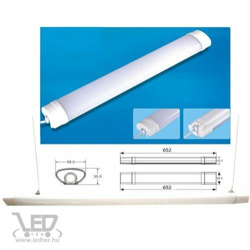 Tri-proof LED lámpa 60cm középfehér 18W 1820 lumen