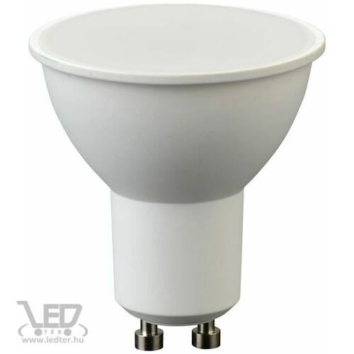 Hidegfehér-6000K 5W=40W 420 lumen Tej burás GU10 LED izzó