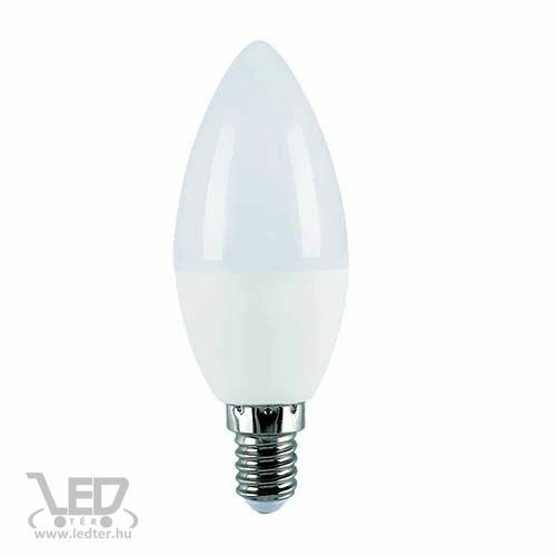 Gyertya E14 LED izzó hidegfehér 8W 800 lumen