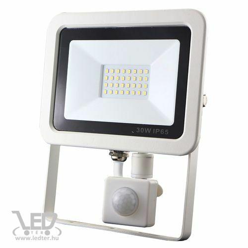 Mozgásérzékelős LED reflektor hidegfehér 30W 3100 lumen