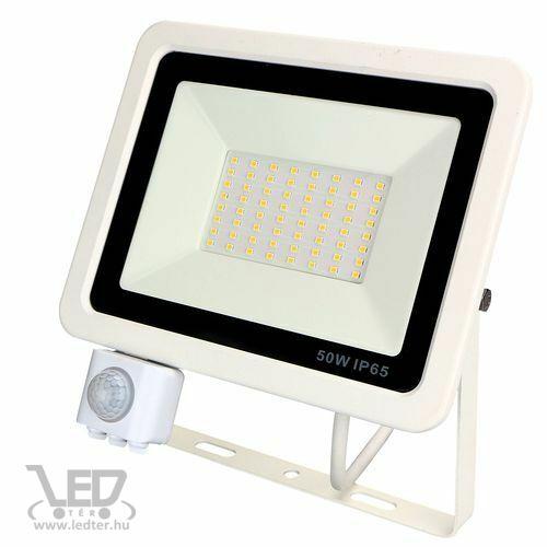 Mozgásérzékelős LED reflektor hidegfehér 50W 5200 lumen