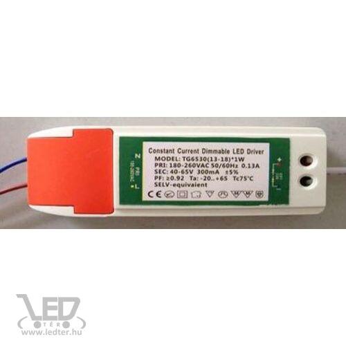 Dimmelhető driver LED panelhez 13W-18W 300mA 40-65V