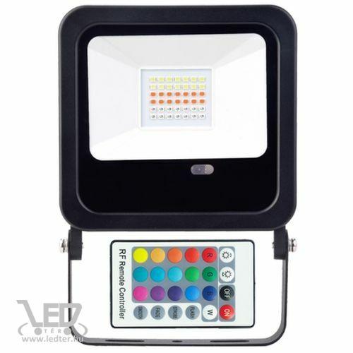 Színes LED reflektor RGB 30W 200-1800 lumen távirányítós