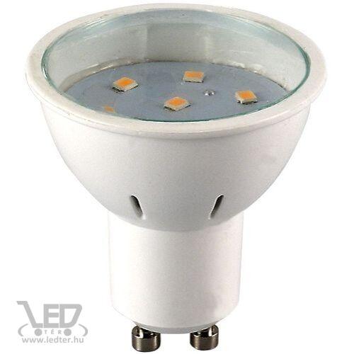 GU10 átlátszó burás LED izzó melegfehér 3W 220 lumen