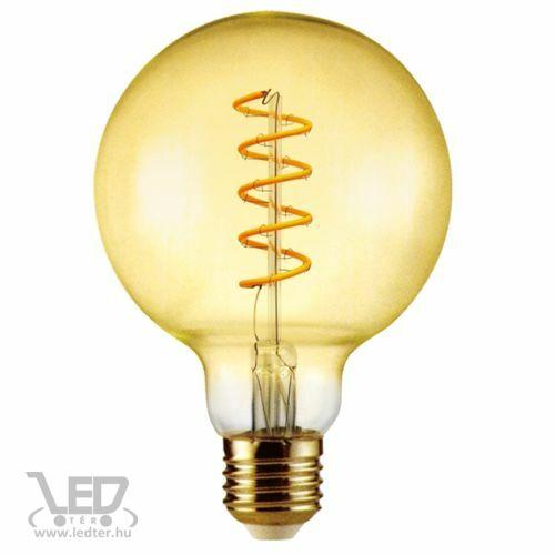 Filament nagygömb E27 LED izzó extra melegfehér 6W 500 lumen