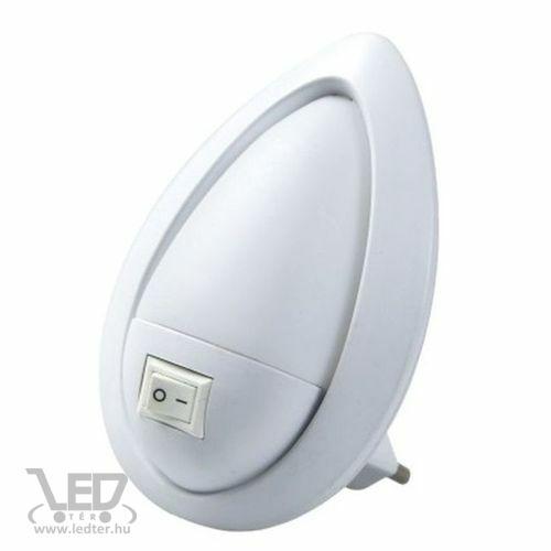 LED-es éjszakai irányfény kapcsolóval, 230V középfehér 50 lumen