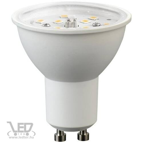 GU10 átlátszó burás LED izzó középfehér 7W 680 lumen