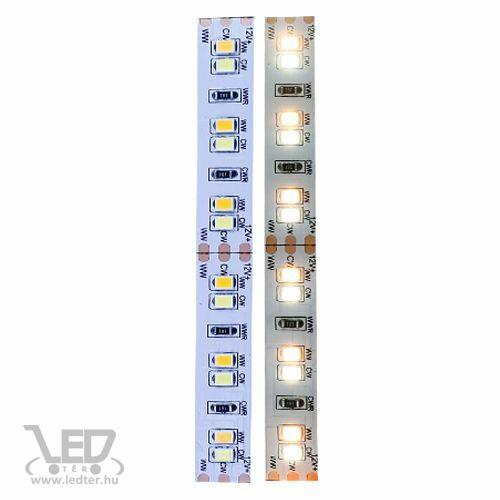 Beltéri hideg+melegfehér 120LED/m 2835 chip 9,6 W 1000 lm/m LED szalag