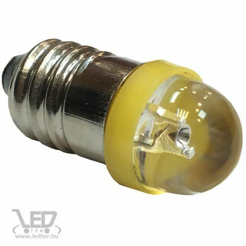 Autós led E10 helyzetjelző, index világítás, 1 led, 30 Lumen, sárga