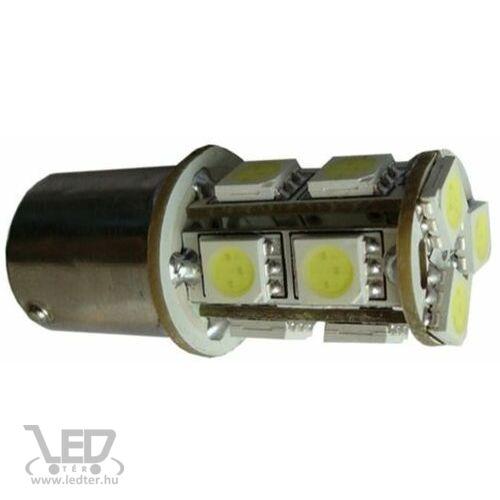 Autós led BA15S index, tolató, helyzetjelző világítás, 13 led, 95 Lumen, 2,5W, sárga