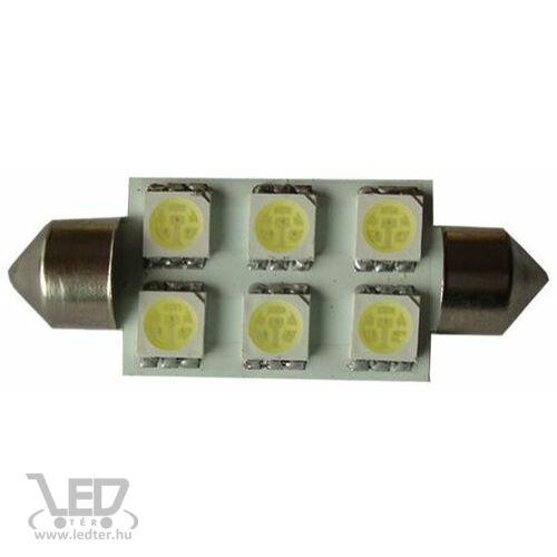 Autós led Sofita rendszám világítás, 6 led, 39 mm, 100 Lumen, 5050 chip, 1,5W, hideg fehér