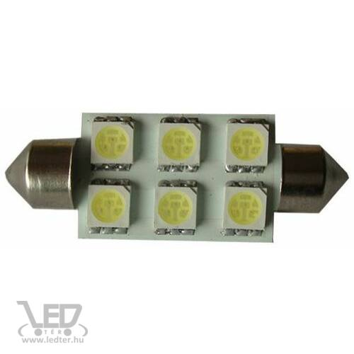 SOFITA 39mm 6 LED hidegfehér 1,5 W 100 lumen autós LED