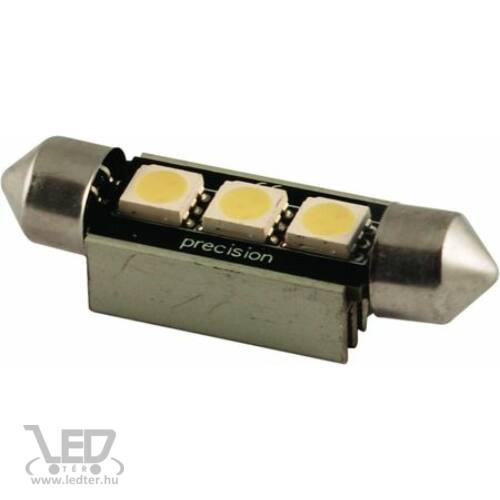SOFITA 42mm 3 LED Canbus hidegfehér 1,5 W 100 lumen autós LED