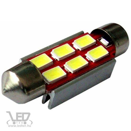 Autós led Sofita Canbus rendszám világítás, 6 led, 39 mm, 150 Lumen, 5730 chip, 2W, hideg fehér