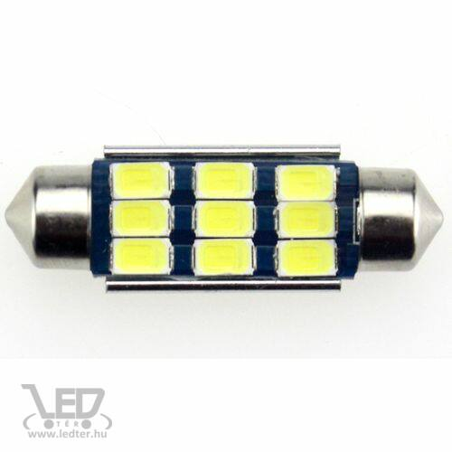 Autós led Sofita Canbus rendszám világítás, 9 led, 39 mm, 200 Lumen, 5730 chip, 2,5W, hideg fehér