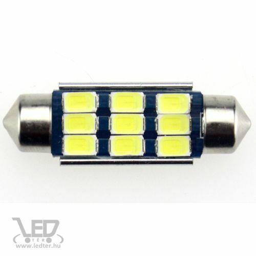Autós led Sofita Canbus rendszám világítás, 9 led, 42 mm, 200 Lumen, 5730 chip, 2,5W, hideg fehér