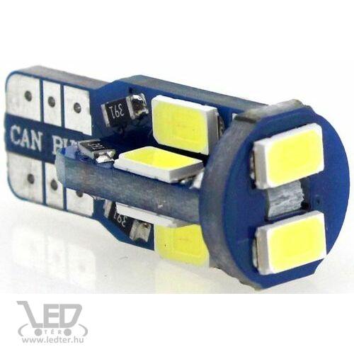 Autós led T10 CANBUS helyzetjelző, index világítás, Samsung chip, 10 led, 150 Lumen, 2,5W, hideg fehér