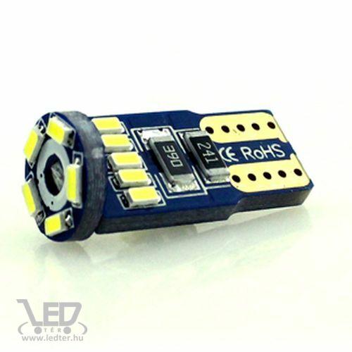 T10 Canbus helyzetjelző/index 15 LED hidegfehér 1 W 70 lumen autós LED