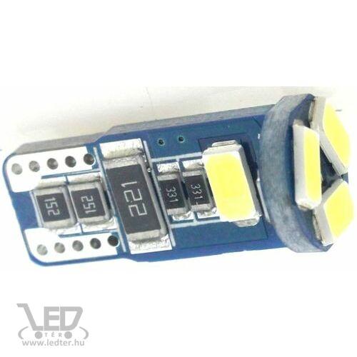 T10 Canbus helyzetjelző/index 5 LED hidegfehér 1,5 W 115 lumen autós LED