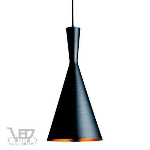 Modern lámpa függeszték tölcsér forma fekete - arany
