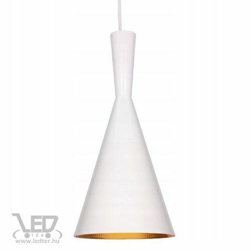 Modern lámpa függeszték tölcsér forma fehér - arany