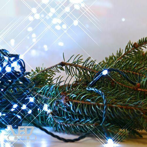 Rizsszem LED fényfüzér 300 db hideg fehér LED