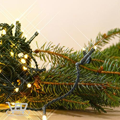 Rizsszem LED fényfüzér  300 db meleg fehér LED. 8 funkciós vezérlővel