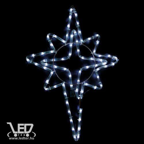Karácsonyi figura csillag 50x39 cm 72 db hideg fehér LED