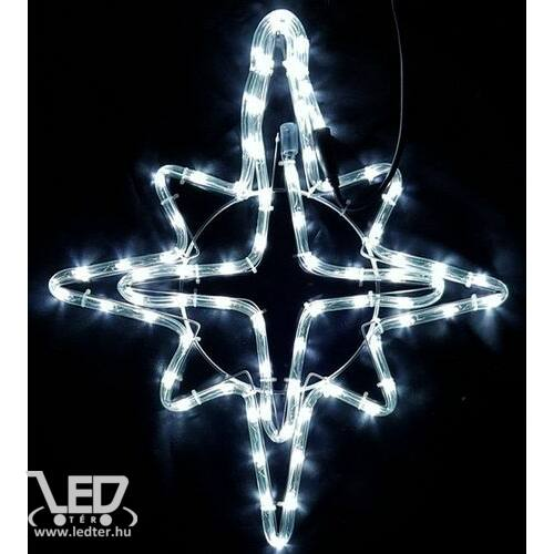 Karácsonyi figura csillag figura 55x45 cm 72 db hideg fehér LED