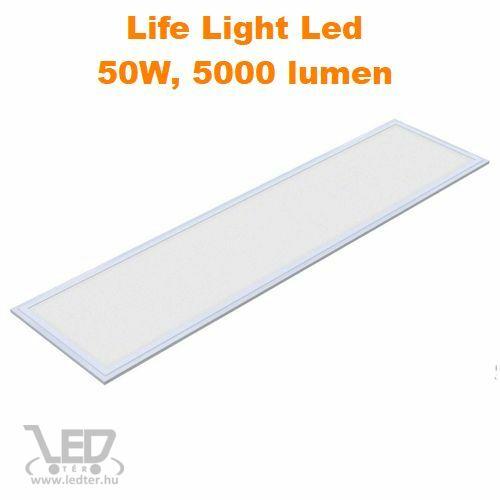 LED panel 30x120 cm hidegfehér 50W 5000 lumen