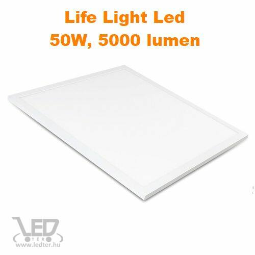 LED panel 60x60 cm hidegfehér 50W 5000 lumen