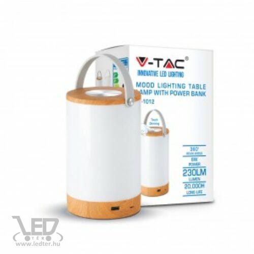 V-TAC 6W középfehér-4000K 230 lumen faerezett-matt fehér házú LED töltős lámpa