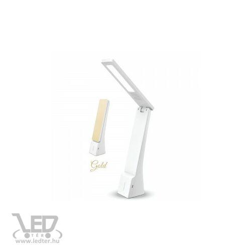 V-TAC 4W változtatható színhőmérséklet 550 lumen fehér-arany ház LED olvasólámpa