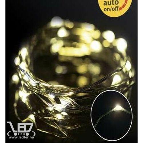 Karácsonyi micro LED nano fényfüzér,  150 db hideg fehér LED, zöld vezetékkel