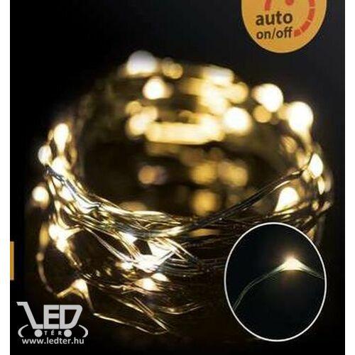 Karácsonyi micro LED nano fényfüzér,  150 db meleg fehér LED, zöld vezetékkel